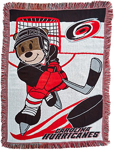 The Northwest Company Officially Licensed NHL Carolina Hurricanes Score Woven Jacquard Baby Throw Blanket, 36