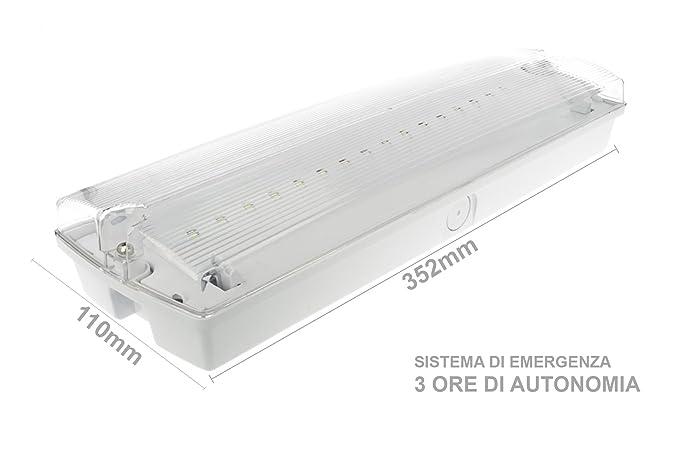 Plafoniere Led Da Interni : Plafoniera led da soffitto w con sistema di emergenza inclusa