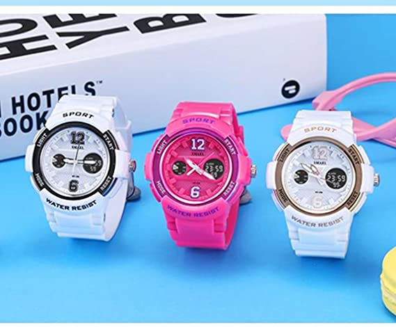 Amazon.com: Girls Womens Digital Watch Relojes Deportivos para Mujer Pink: SHELISW132R: Watches
