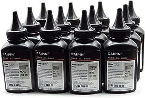 No-name 12A Black Refill Laser Printer Toner Powder Kit for HP CE285A 285 85a P1102 P1102W M1132 M1212 M1214 M1217 Imported Laser Toner Power Printer (100g/Bottle,12 Bottle)