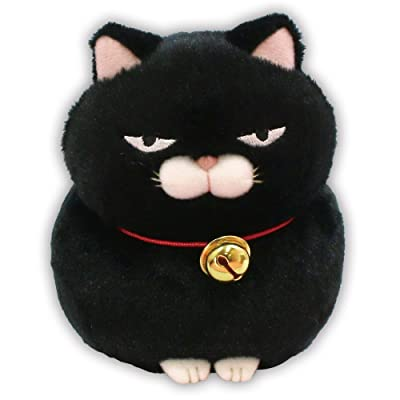 "Amuse Higemanjyu Series Plush Cat Doll Standard Size (5""x 4""x 5"") Japan Import Stuffed Animal Toy Japanese Popular Cat Cute Fluffy Comfortable Doll Plush (Black-Kuromame, Standard): Toys & Games"