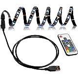 ORANGEHOME LED テープライト TVバックライト テレビ PC照明 目の疲れを取る USB接続 リモコン操作 強粘着両面テープ仕様 カラー選択 切断可能 防水防塵 SMD5050RGB LEDライト 屋内外装飾 (2M) …