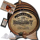 Hot New Design - Personalized American Oak Aging Barrel ''MADE BY'' American Oak Barrel - Design 106: Barrel Aged Brandy - 2018 Barrel Aged Series (5 Liter)