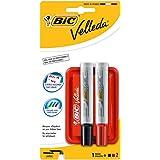 Bic 882405 - Borrador magnético con 2 marcadores para pizarras blancas, multicolor