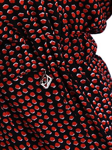 Gaudi Tuta Lunga Donna Gaudì Fantasia Nero/Rosso