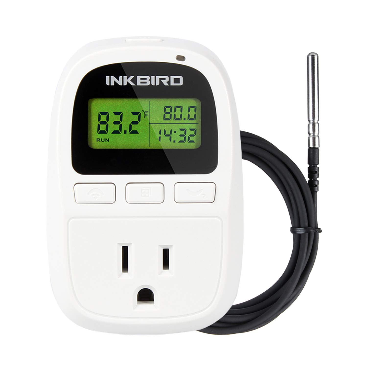 Inkbird C206T 1500W Heat Mat Temperature Controller Day and Night Thermostat 6.56 Feet NTC Sensor F and C Degree -58 to 212F