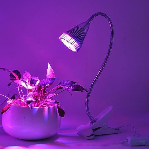 Bombillas, 5 W 5 LED lámpara de 360 grados Flexible Holder Clip estilo LED planta crecimiento luz luz de efecto invernadero acuario luz, CA 85 - 265 V para ...