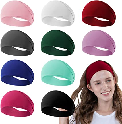 Cotton Elastic Wide Headband Solid Color Headwear for Yoga Work out Women HOT