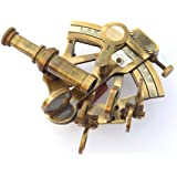 THORINSTRUMENTS (with device) Antique Brass Nautical Sextant Maritime Astrolabe Marine for Office & Gifitng Item