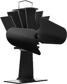 Madera estufa calor ventilador alimentado por 2-Blade G-VO ...