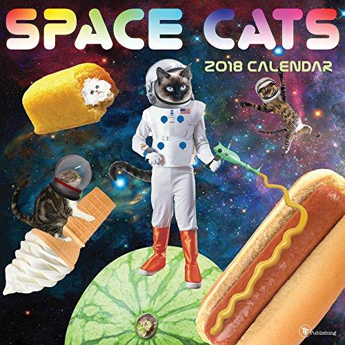 2018 Space Cats Wall Calendar