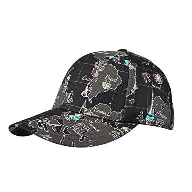 af3ba144c36 Kenmont  quot  World MAP Flower Printed Cotton Baseball Cap Wome s  Adjustable Ball Hat for All