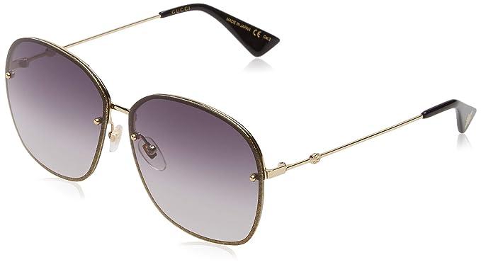 Gucci GG0228S 002, Gafas de sol para Mujer, Dorado (2/Grey ...