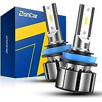 $29 » ZonCar H11/H9/H8 LED Headlight Bulbs 15000 Lumens, 400% Brightness Super Bright,…