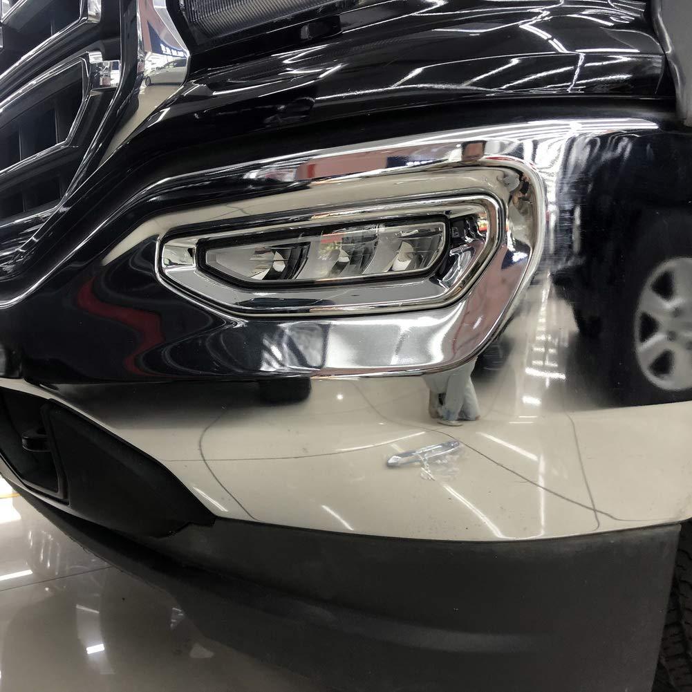 Chrome front bumper fog bumper cover trims molding for GMC sierra 2014-2018