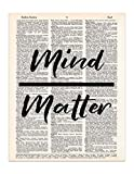 Mind Over Matter, Dictionary Page Art Print, 8x11 UNFRAMED