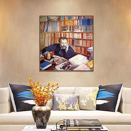 tzxdbh Retrato De Edmond Duranty-Edgar Degas Decoración Imágenes ...