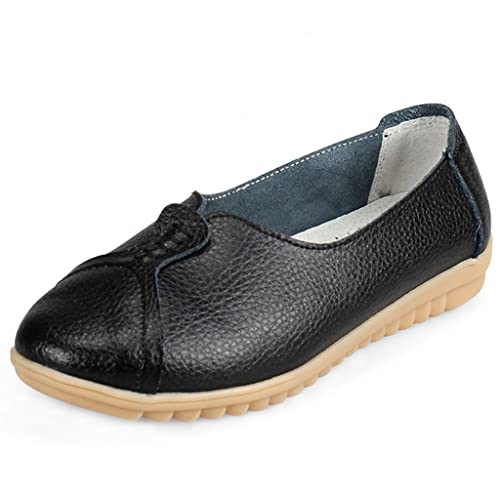 d801faffb57 Eagsouni Ladies Loafers Moccasins Flats Slip-Ons Casual Walking Shoes for  Women Black