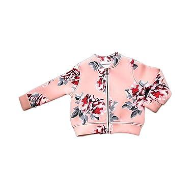 4114f66e874f David Nadeau Pink Black Toddler Girl Coats Zipper Tops Toddler Child ...