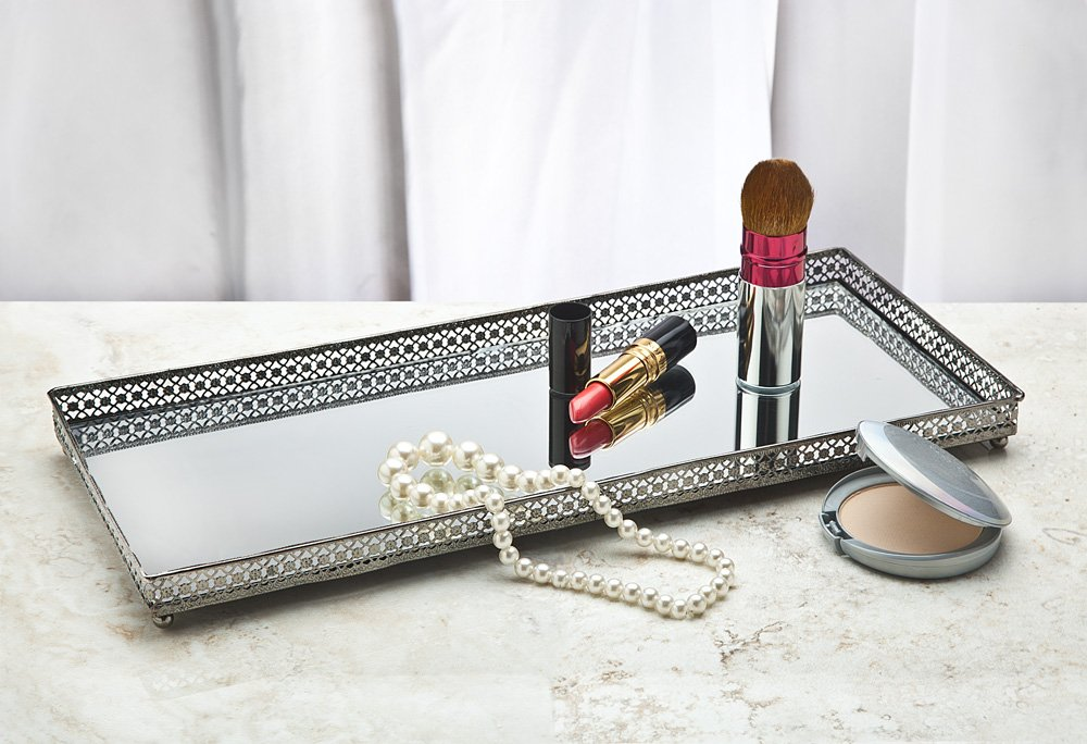 Mirror Metal Tray 7x15