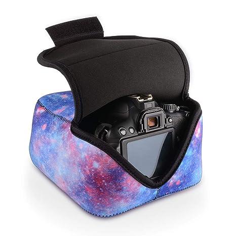 Funda para Cámara DSLR Estuche Protectora Equipo Cámara Digital Bolsa de Almacenamiento con Protección de Neopreno (Negro) para Nikon, Canon, Olympus, ...