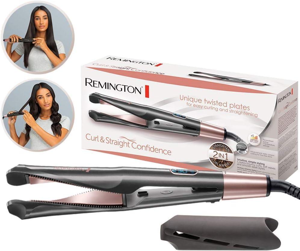 Plancha para Pelo marca Remington Curl & Straight Confidence