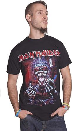 Iron Maiden Live A Real Dead One Steve Harris Oficial Camiseta para Hombre