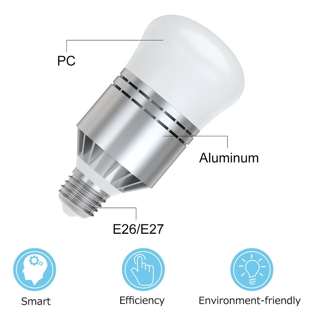 Dusk to Dawn Light Bulb Leejun Cool White 2 Pack 60-Watt Equivalent Security Lights Outdoor//Indoor for Porch Garage Garden Patio E26//E27 7W Smart Sensor LED Light Bulbs Automatic On//Off