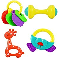 Jaynil® New Born Baby Rattle 4 pcs Toy Set