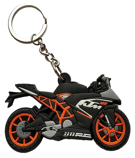 Gct Double Sided Ktm Bike Logo Rubber Keychain For Car Bike Men