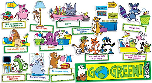 Scholastic Go Green! Mini Bulletin Board (TF8069)