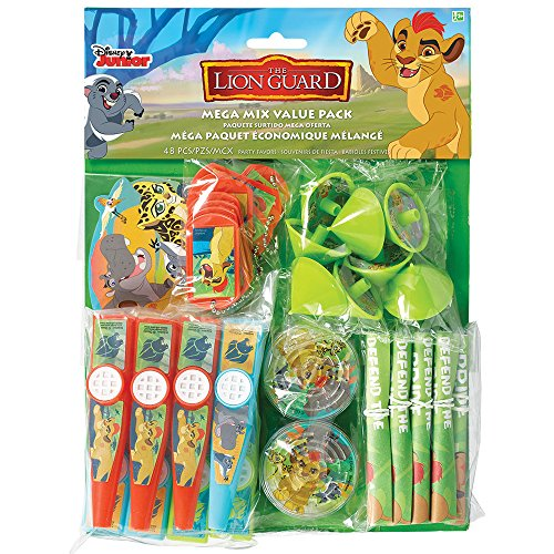 Amscan Disney The Lion Guard Mega Mix Value Pack Favors, Party - Lion Party King The Supplies