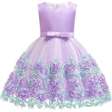 ADHS - Vestidos de niña para niñas, sin Mangas, Vestidos ...