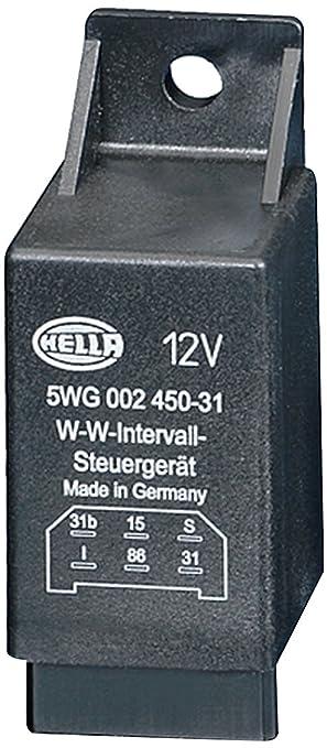 HELLA 5WG 002 450-311 Relé, intervalo del limpiaparabrisas, 12V, con soporte: Amazon.es: Coche y moto