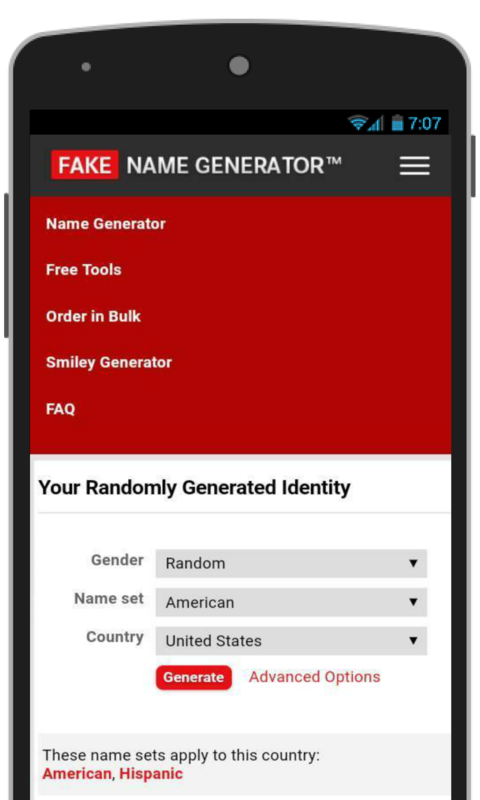 Android Amazon Name Fake Id com And Maker - Email Generator Appstore