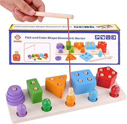 Wooden Activity Letter Number Sorter Kids Early Montessori Toys Gifts FS
