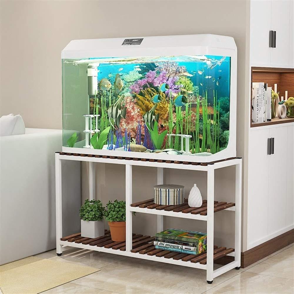 Amazon.com: Sevenpring Storage Rack Solid Wood Fish Tank Shelf Home ...