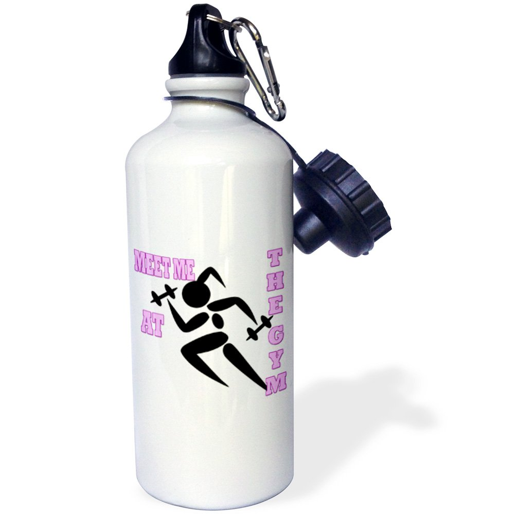 3dRose wb/_218218/_1 Meet Me At The Gym Popular Saying Best Quotes Sports Water Bottle 21Oz Multicolored