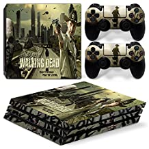Ps4 PRO Playstation 4 Console Skin Decal Sticker The Walking Dead + 2 Controller Skins Set (PRO Only)