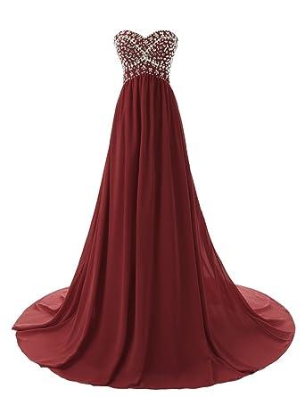 Dressystar Sweetheart Beaded Long Prom Dress Flowing Chiffon