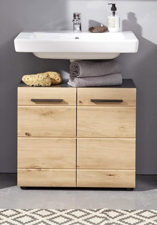 trendteam smart living Skin Armario bajo para Lavabo de baño ...