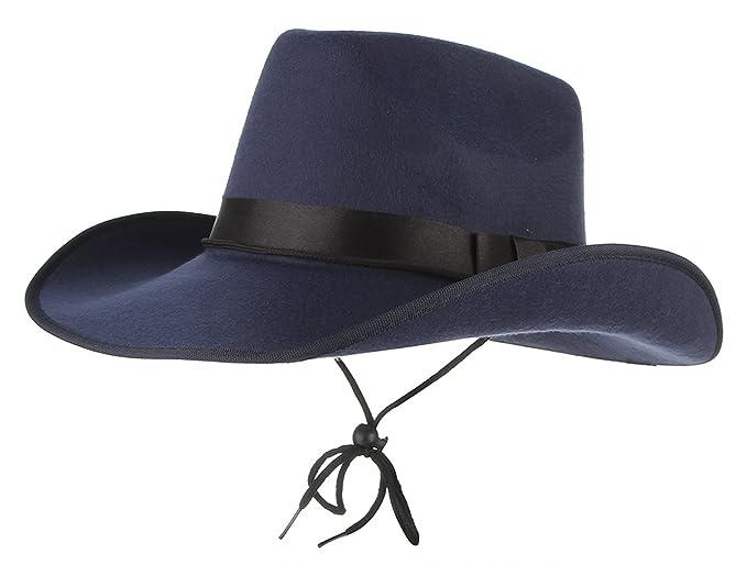 La Vogue-Retro Cappello da Cowboy Uomo Berretto Texano Uomoni Camperos  Accesori per Travestimento ( 54230d37c68f