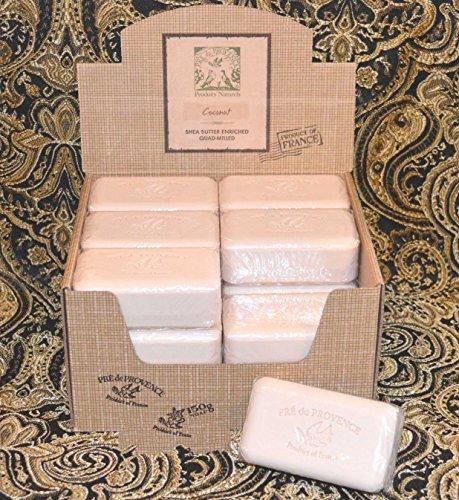Case of 18 Pre de Provence Coconut 150 gram shea butter large soap bars