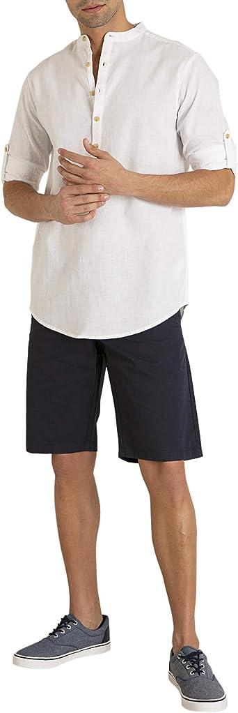 MO Bermuda Algodón Hombre - Azul Oscuro - Talla 40: Amazon.es ...