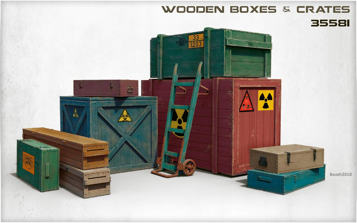 MiniArt 35581 Wooden Boxes & CRATES 20TH Century Plastic Models KIT 1/35 Scale by MiniArt (Image #2)