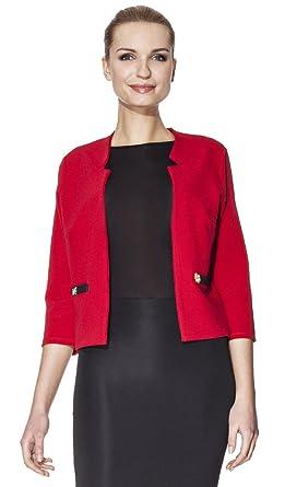 105179987f39 By Hellene - Veste IMANY - Femme - T34 - Rouge  Amazon.fr  Vêtements ...