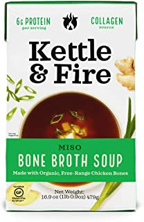 product image for KETTLE & FIRE Miso Soup With Chicken Bone Broth, 16.9 Ounce