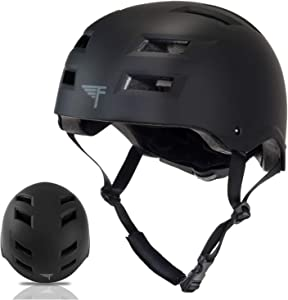 Flybar Skateboard Helmet- Dual Certified CPSC Multi-Sport Impact Protection for Youth and Adults for Bike, Inline and Roller Skating, Skateboarding, BMX, Scooter, and Sports Activities