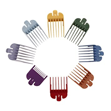 Universal Electric Clipper Guard Guides Comb Attachments 8 Sizes Set 8 Pieces Amazon In Beauty