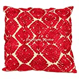 Moroccan Embroidered Pillow, Red